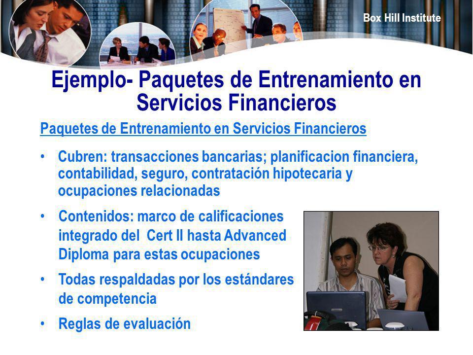Ejemplo- Paquetes de Entrenamiento en Servicios Financieros
