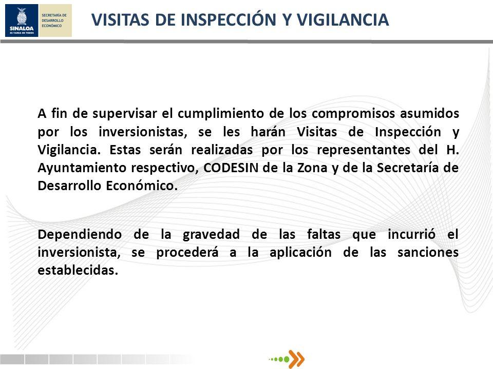 VISITAS DE INSPECCIÓN Y VIGILANCIA