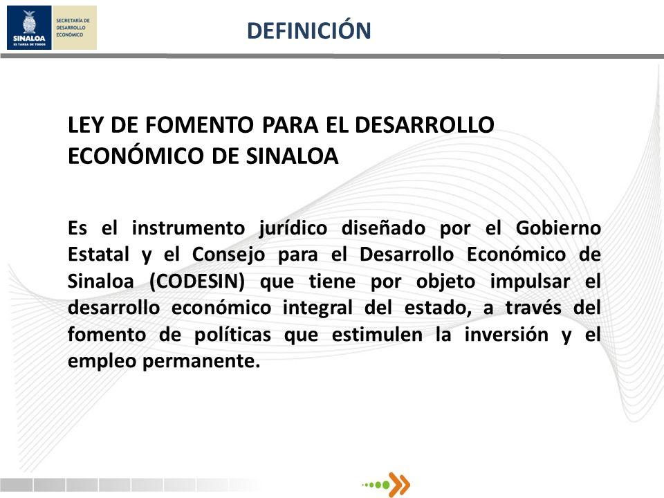 LEY DE FOMENTO PARA EL DESARROLLO ECONÓMICO DE SINALOA