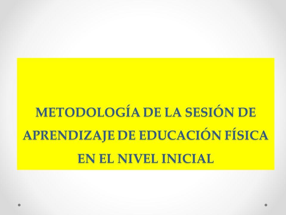 METODOLOGÍA DE LA SESIÓN DE APRENDIZAJE DE EDUCACIÓN FÍSICA EN EL NIVEL INICIAL