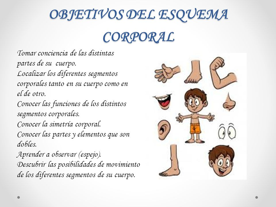 OBJETIVOS DEL ESQUEMA CORPORAL