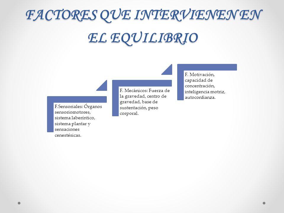 FACTORES QUE INTERVIENEN EN EL EQUILIBRIO
