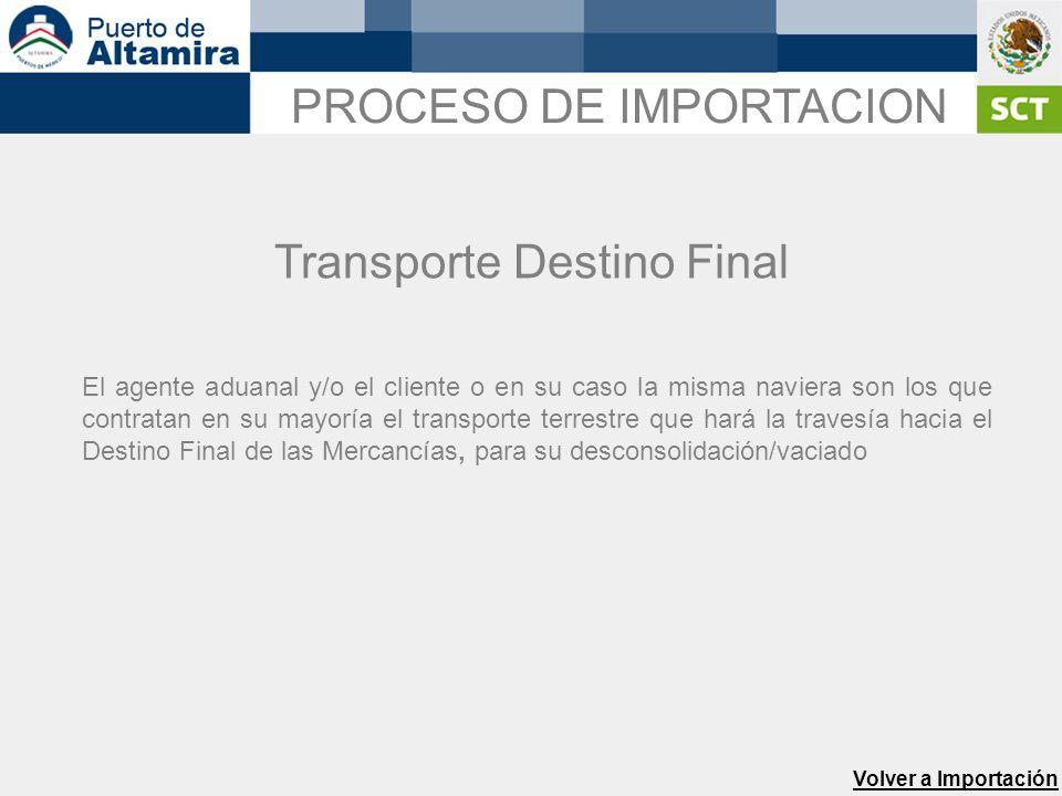 Transporte Destino Final