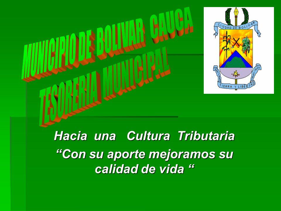 MUNICIPIO DE BOLIVAR CAUCA TESORERIA MUNICIPAL