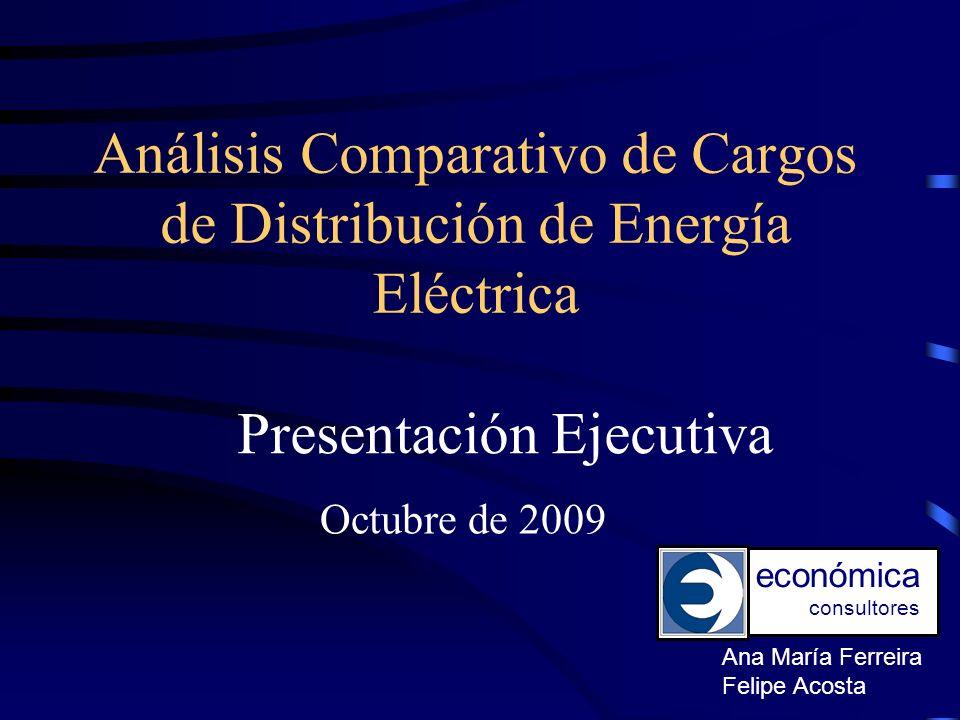 Análisis Comparativo de Cargos de Distribución de Energía Eléctrica