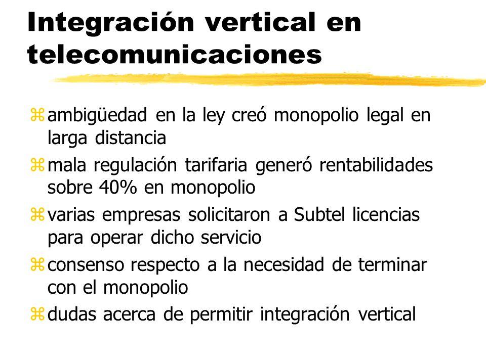 Integración vertical en telecomunicaciones