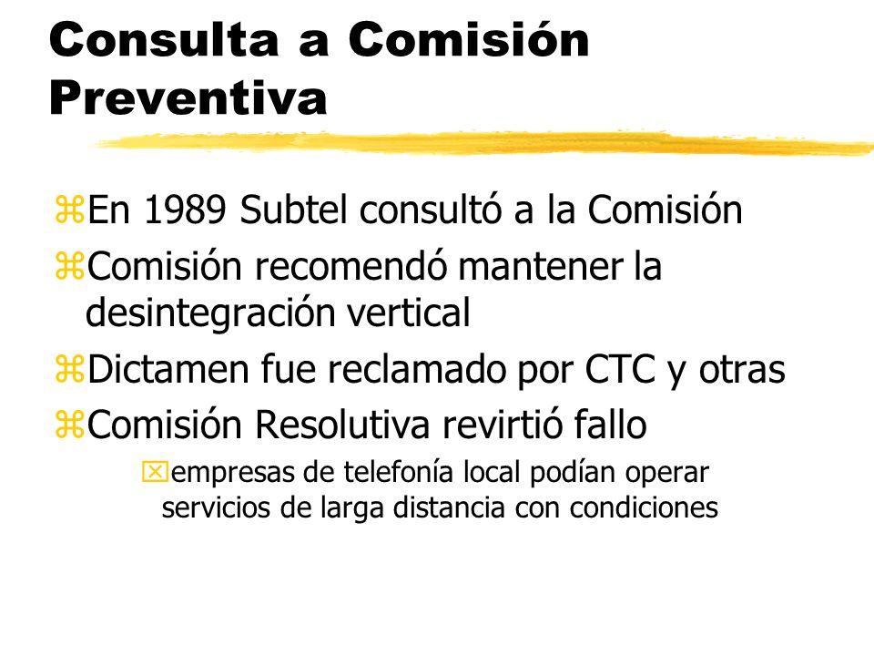 Consulta a Comisión Preventiva