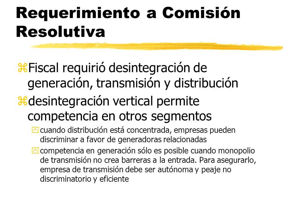 Requerimiento a Comisión Resolutiva
