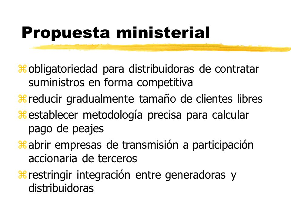 Propuesta ministerial