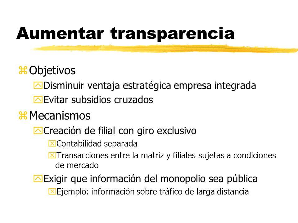 Aumentar transparencia