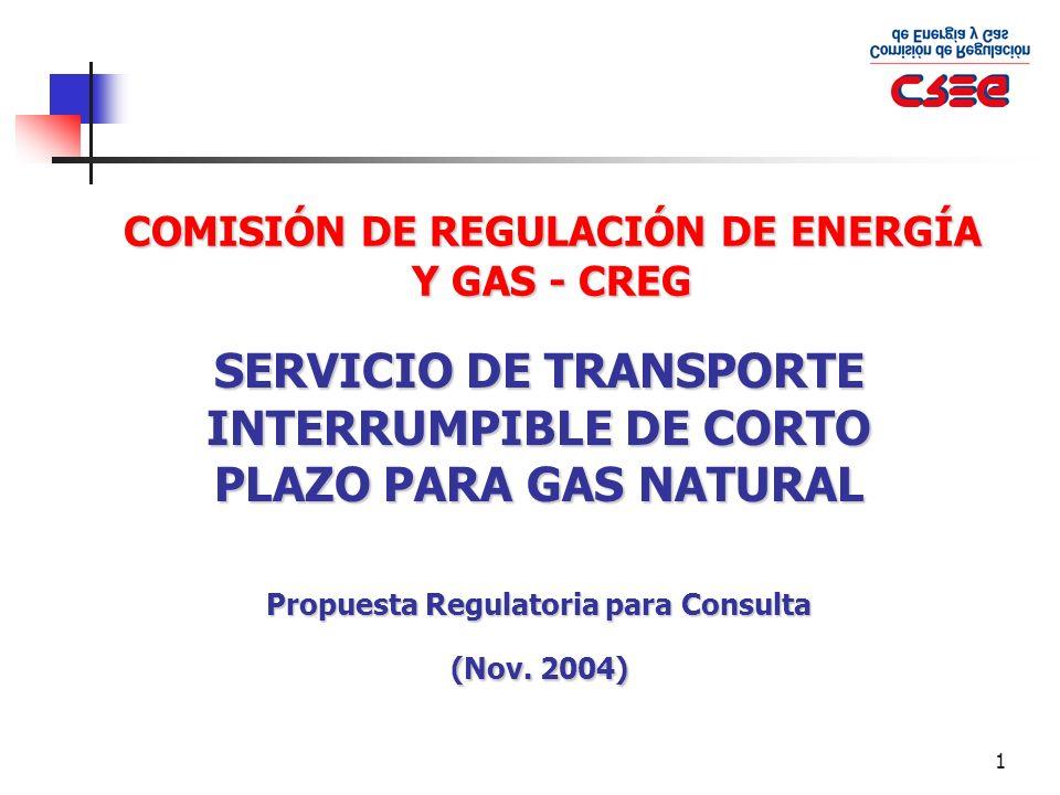COMISIÓN DE REGULACIÓN DE ENERGÍA Y GAS - CREG