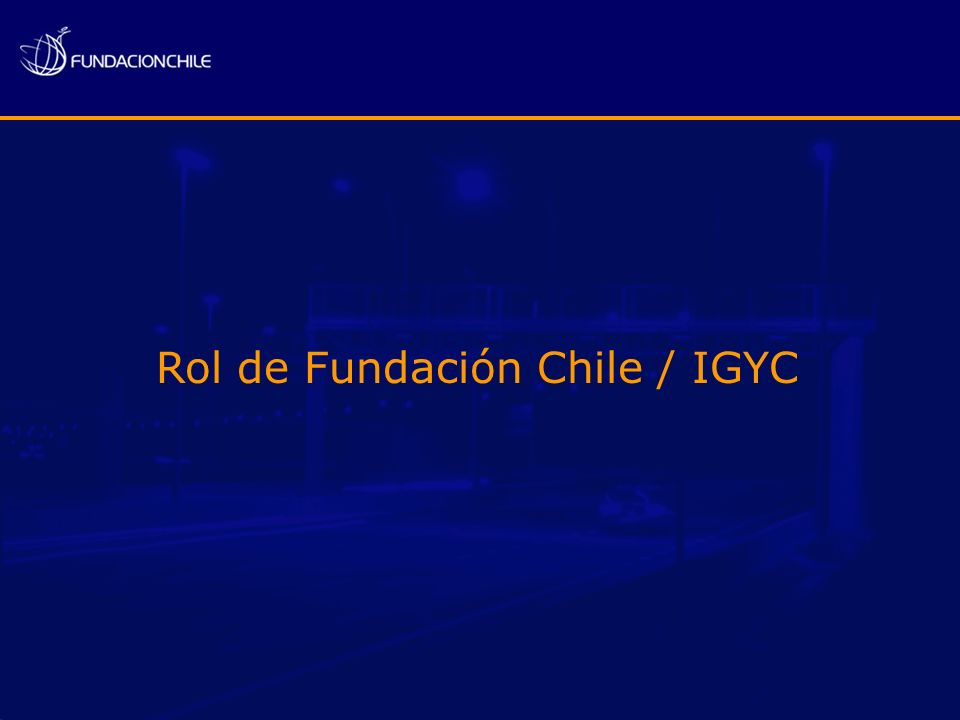 Rol de Fundación Chile / IGYC