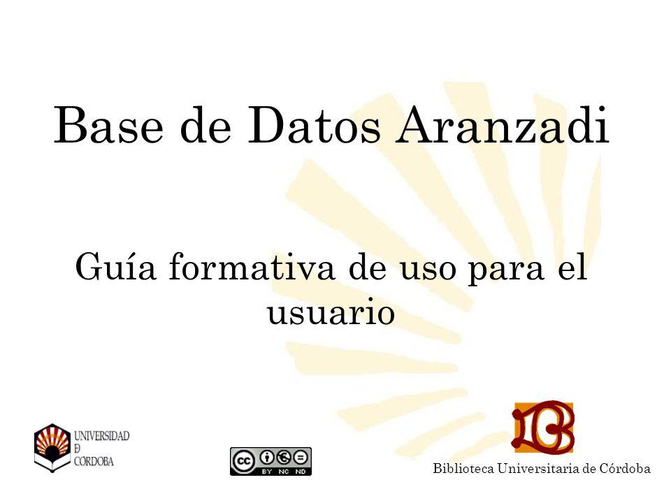 Base de Datos Aranzadi Guía formativa de uso para el usuario