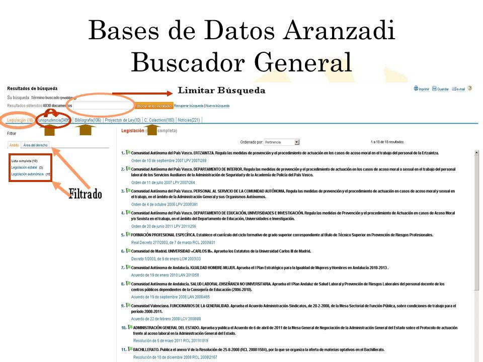 Bases de Datos Aranzadi Buscador General