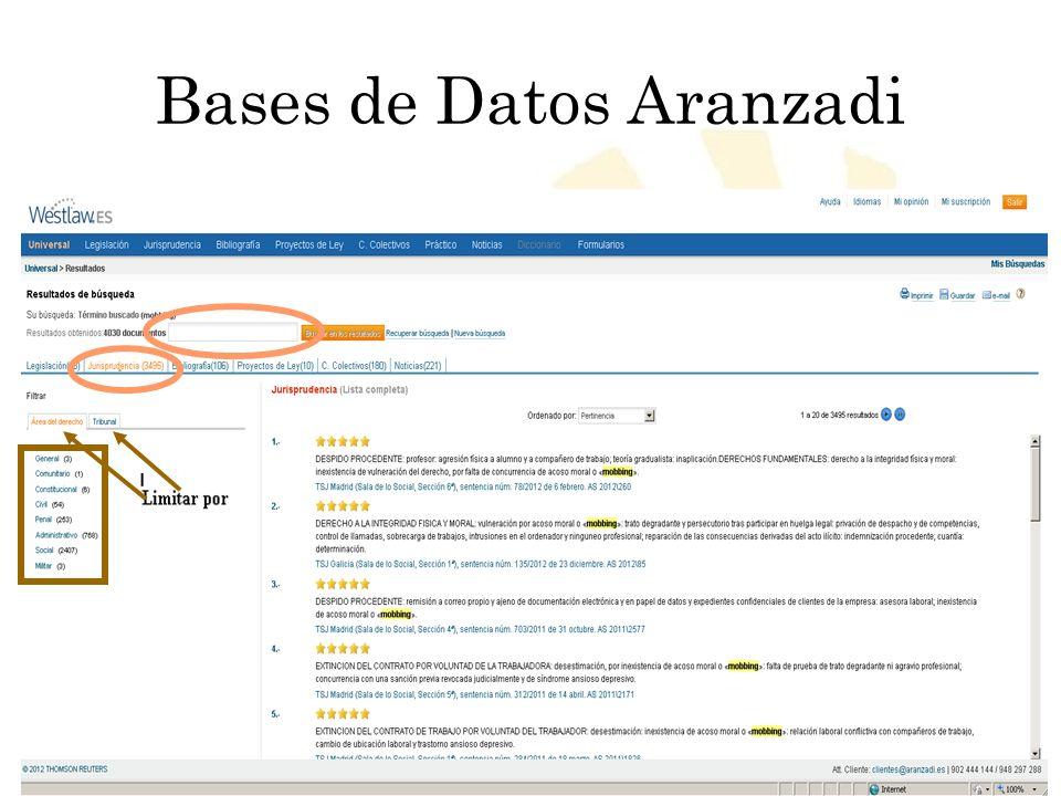 Bases de Datos Aranzadi