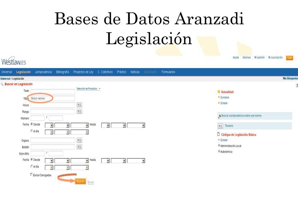 Bases de Datos Aranzadi Legislación