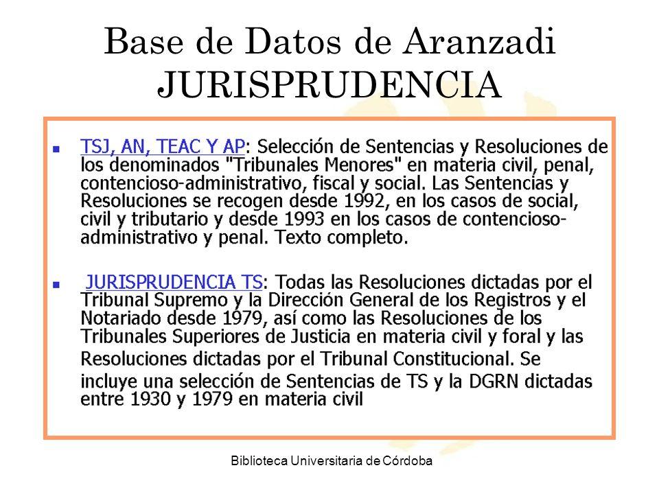 Base de Datos de Aranzadi JURISPRUDENCIA