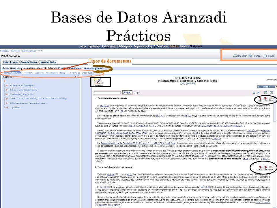 Bases de Datos Aranzadi Prácticos