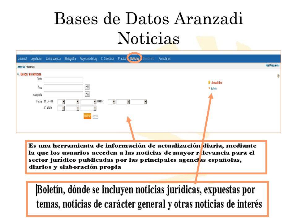 Bases de Datos Aranzadi Noticias