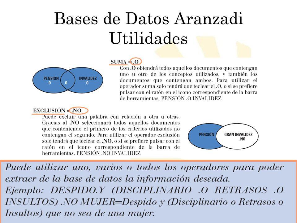 Bases de Datos Aranzadi Utilidades