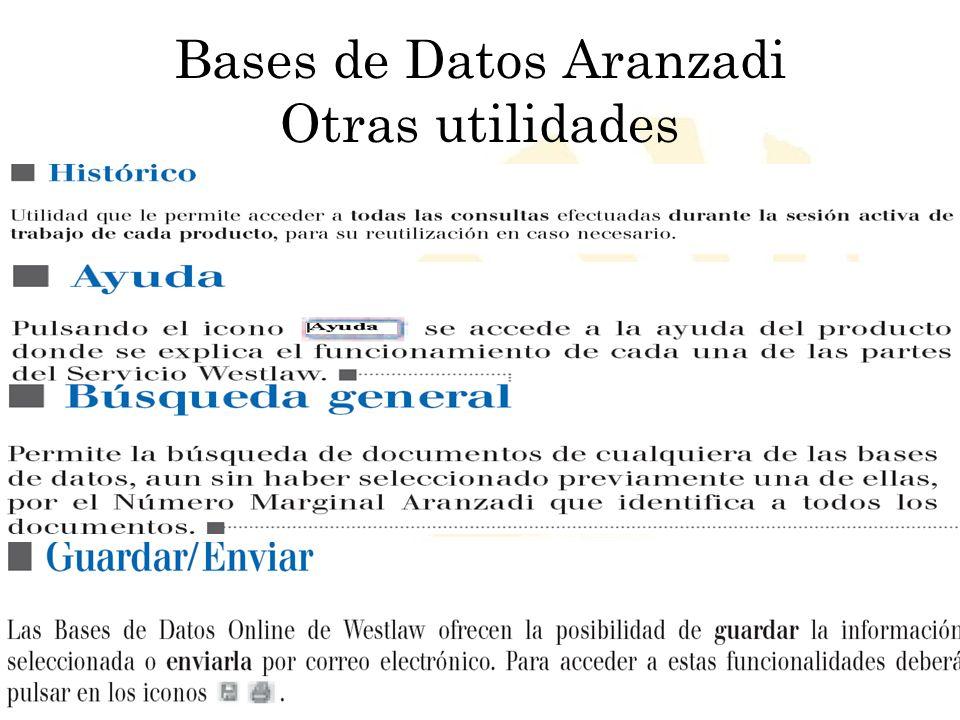 Bases de Datos Aranzadi Otras utilidades