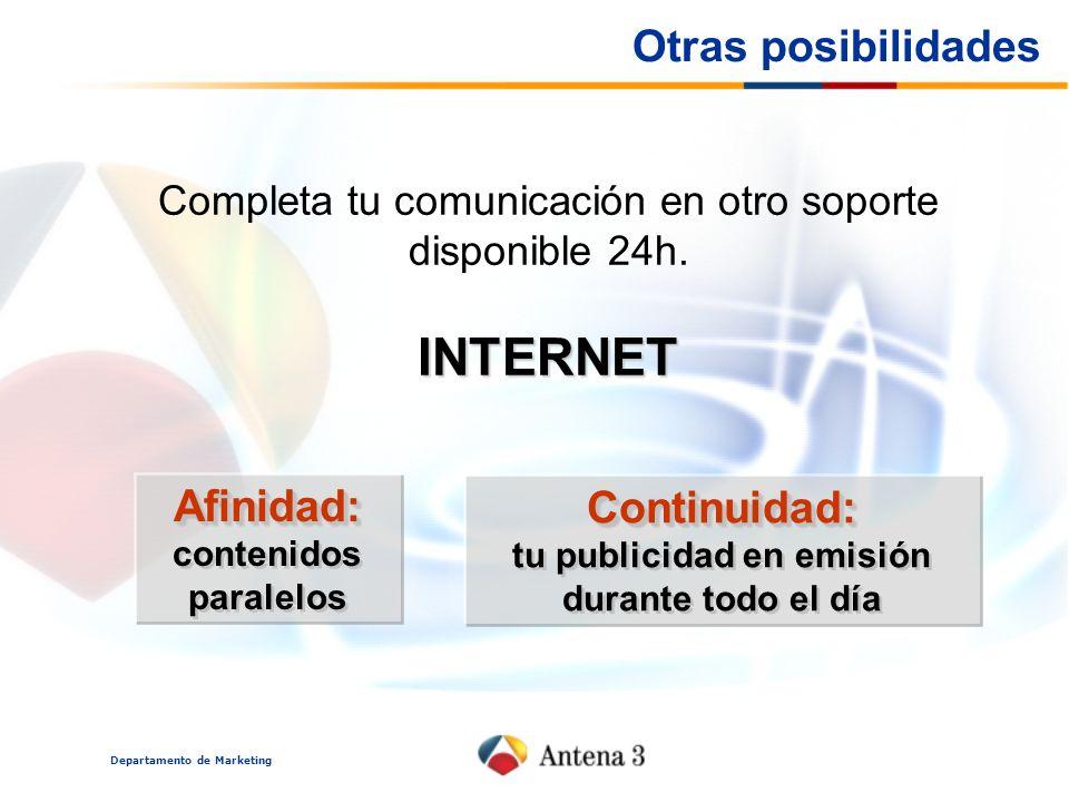INTERNET Otras posibilidades Afinidad: contenidos paralelos