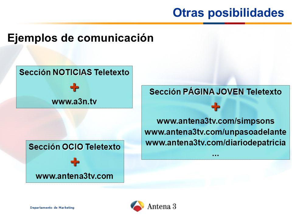 + + + Otras posibilidades Ejemplos de comunicación