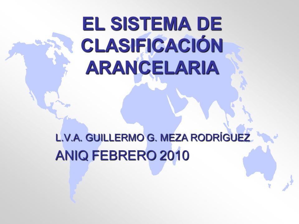 EL SISTEMA DE CLASIFICACIÓN ARANCELARIA
