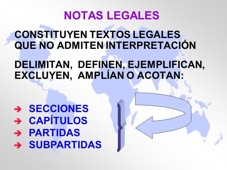NOTAS LEGALES CONSTITUYEN TEXTOS LEGALES QUE NO ADMITEN INTERPRETACIÓN