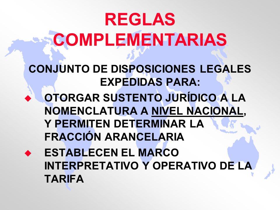 REGLAS COMPLEMENTARIAS