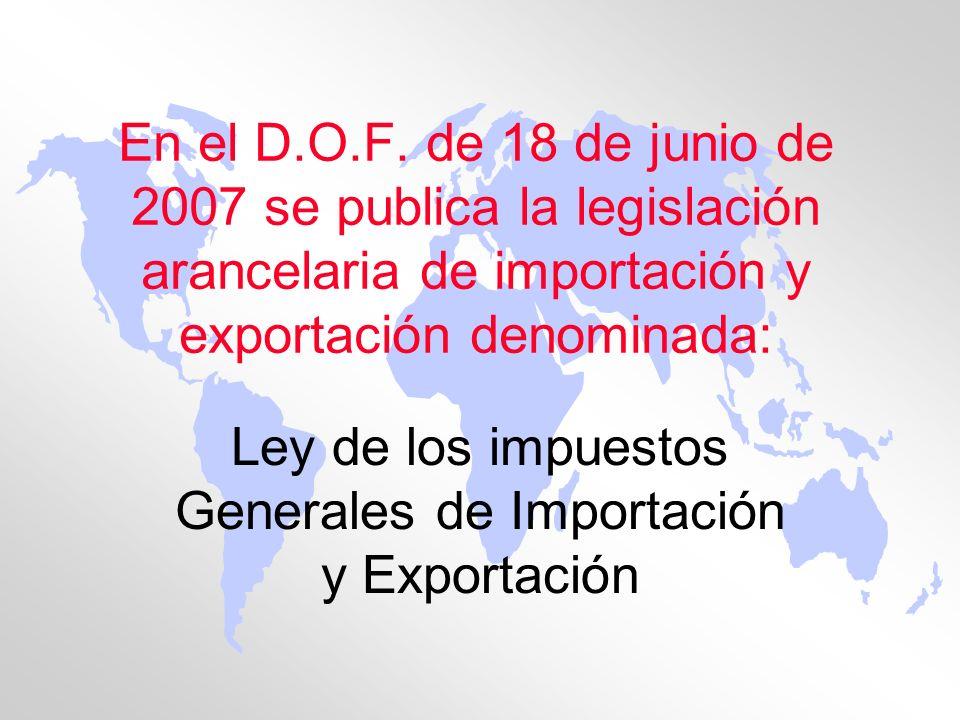 Ley de los impuestos Generales de Importación y Exportación