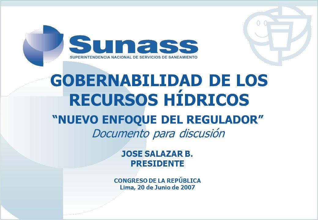 GOBERNABILIDAD DE LOS RECURSOS HÍDRICOS CONGRESO DE LA REPÚBLICA