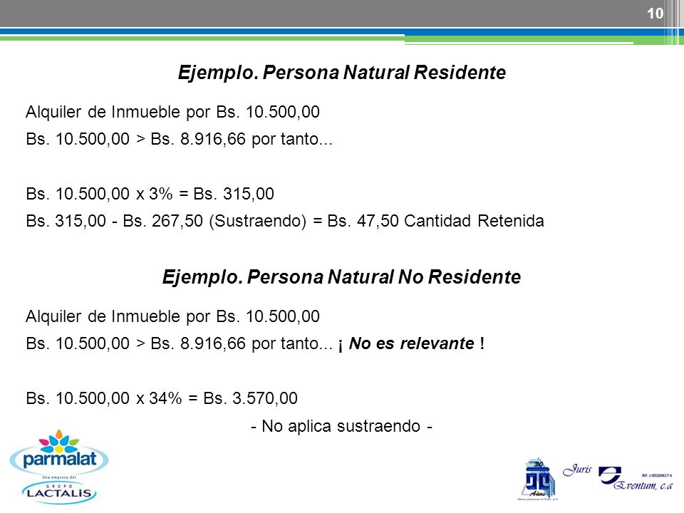 Ejemplo. Persona Natural Residente