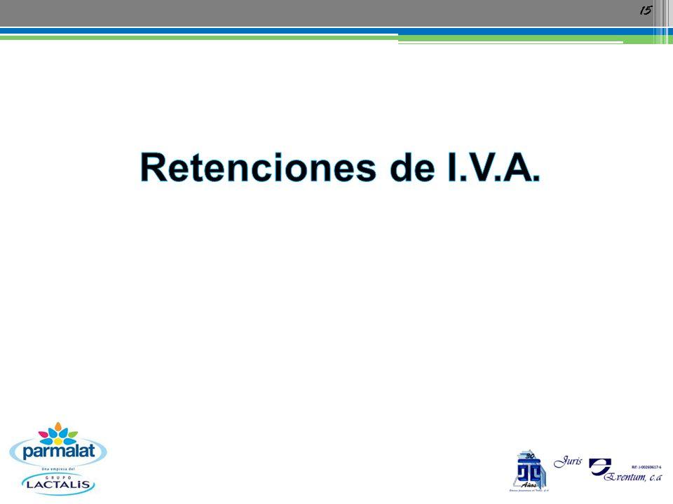 Retenciones de I.V.A.