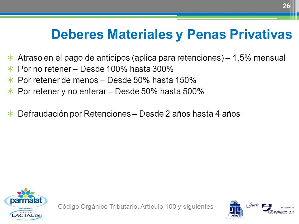 Deberes Materiales y Penas Privativas