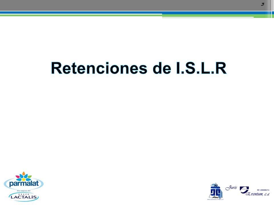 Retenciones de I.S.L.R