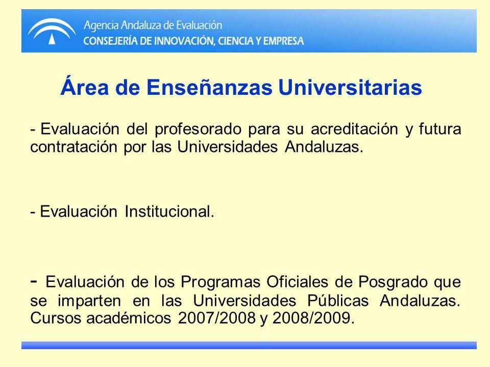 Área de Enseñanzas Universitarias