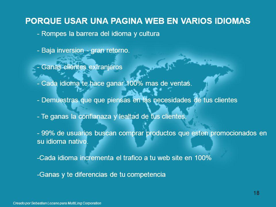 PORQUE USAR UNA PAGINA WEB EN VARIOS IDIOMAS
