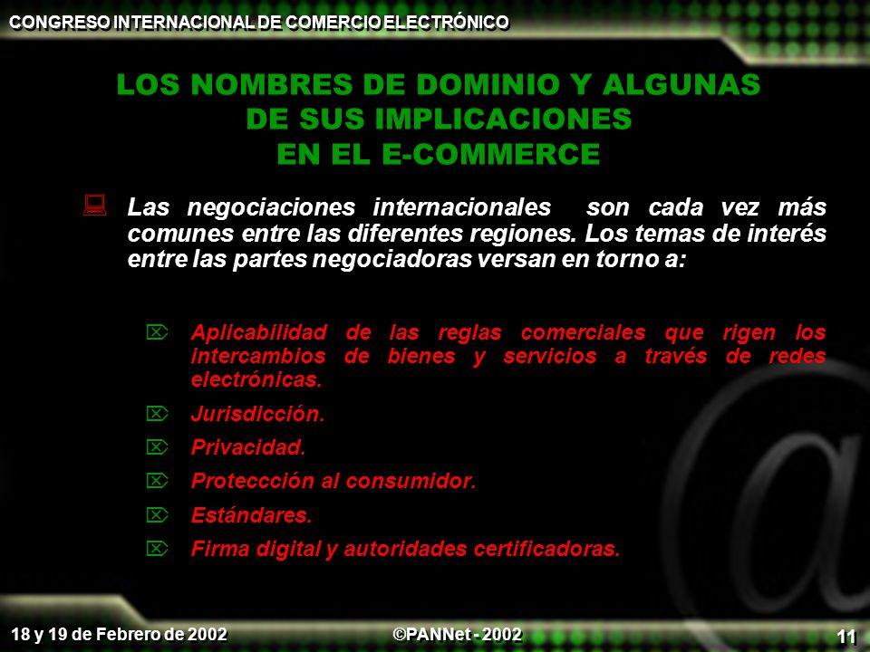LOS NOMBRES DE DOMINIO Y ALGUNAS DE SUS IMPLICACIONES EN EL E-COMMERCE