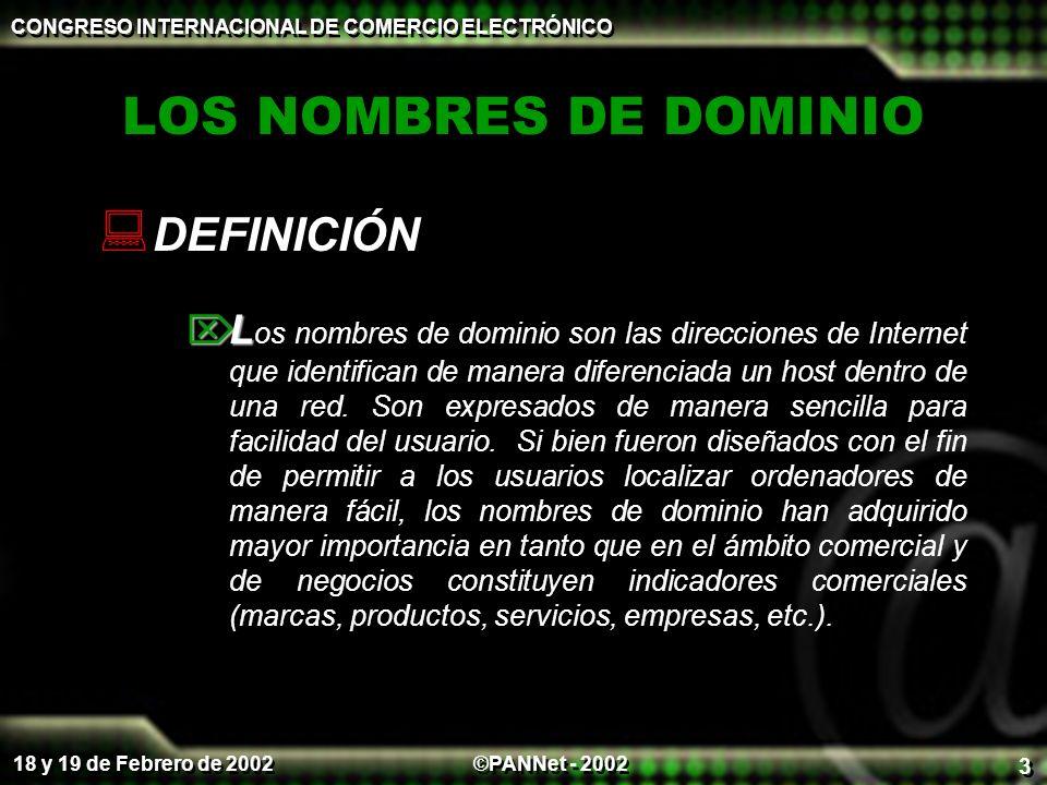 LOS NOMBRES DE DOMINIO DEFINICIÓN