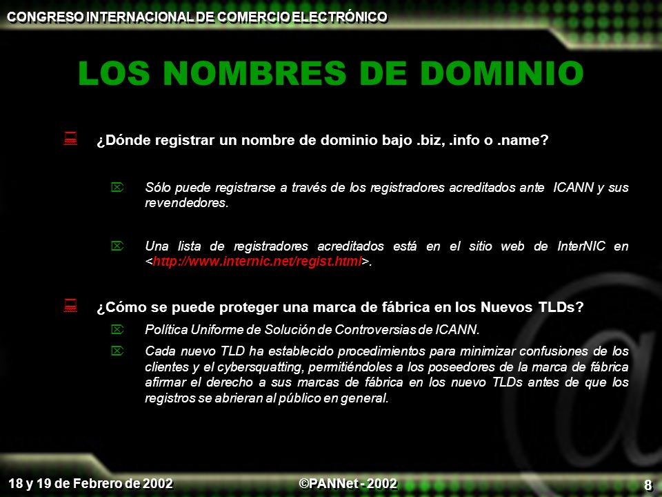 CONGRESO INTERNACIONAL DE COMERCIO ELECTRÓNICO