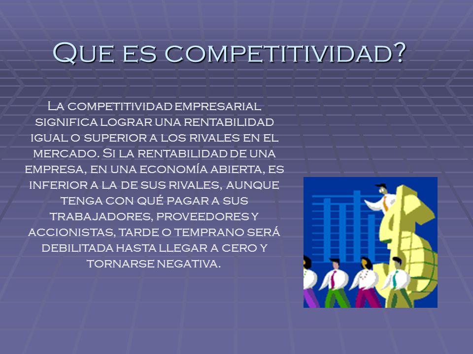 Que es competitividad