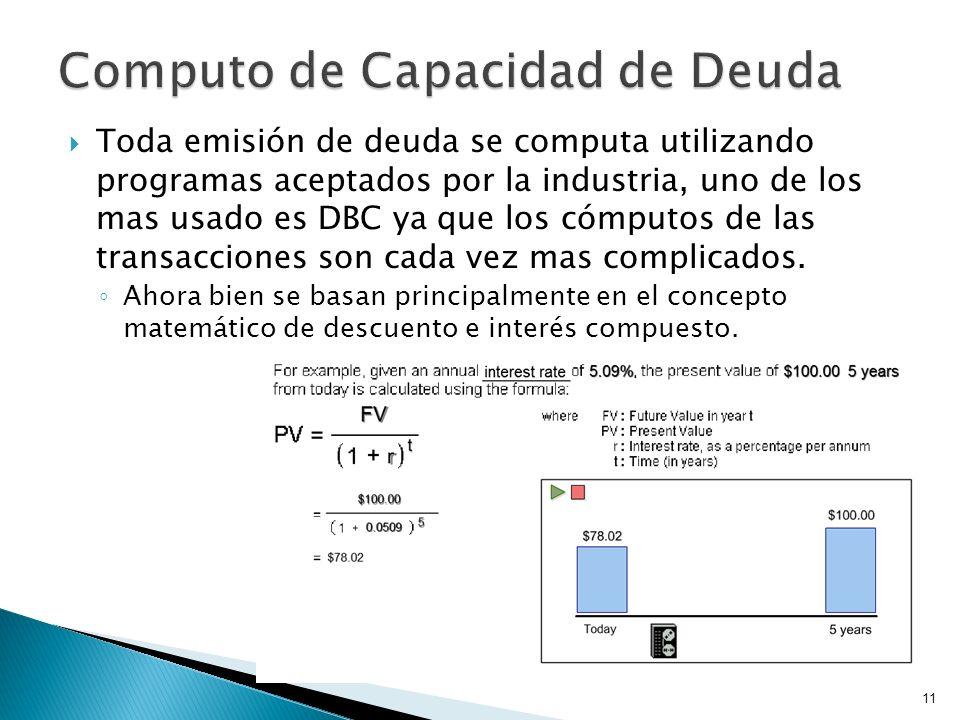 Computo de Capacidad de Deuda