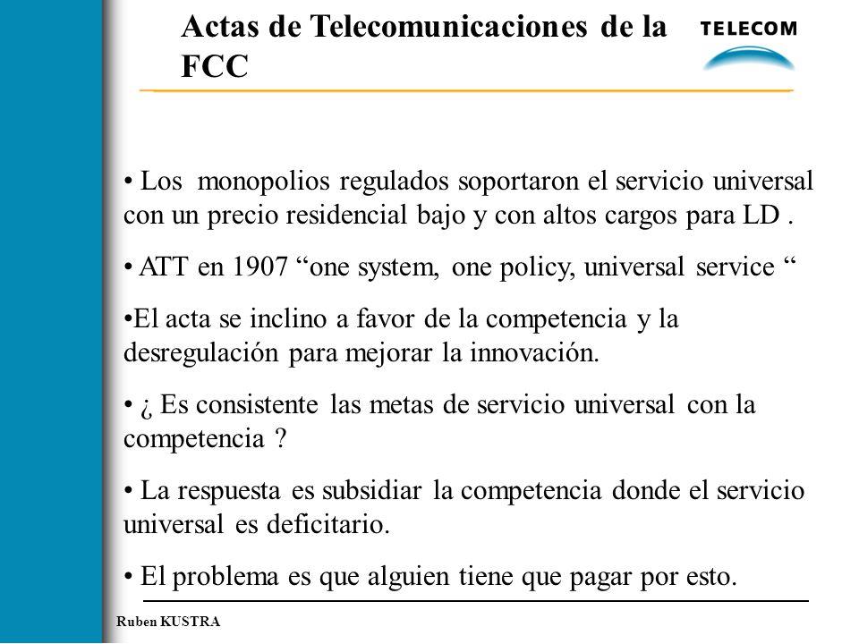 Actas de Telecomunicaciones de la FCC