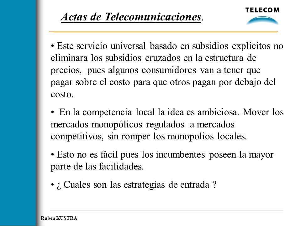 Actas de Telecomunicaciones.