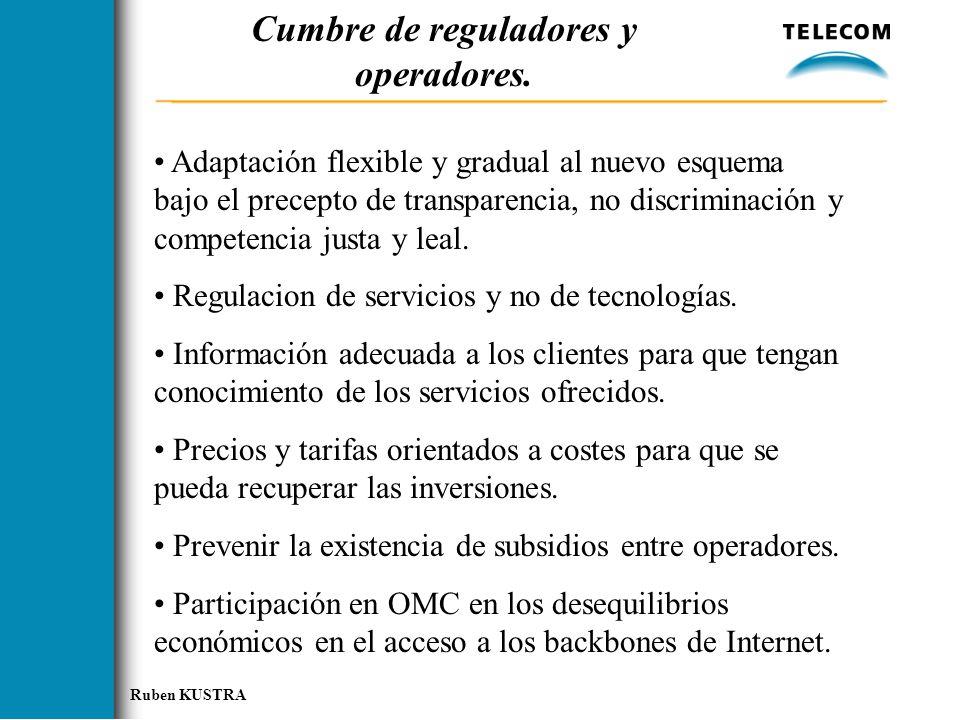 Cumbre de reguladores y operadores.