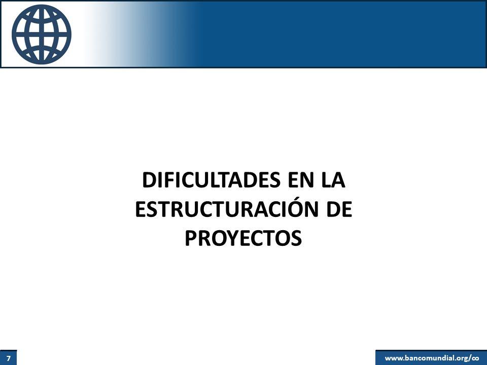 DIFICULTADES EN LA ESTRUCTURACIÓN DE PROYECTOS