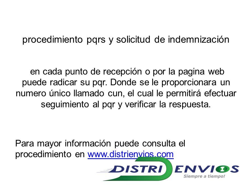 procedimiento pqrs y solicitud de indemnización