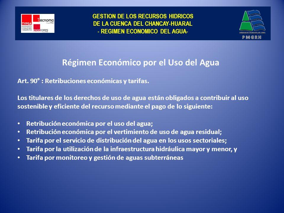 Régimen Económico por el Uso del Agua
