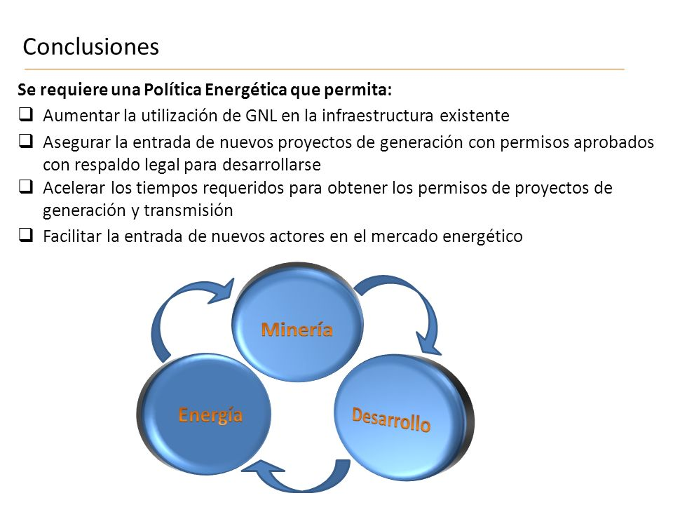 Conclusiones Minería Energía Desarrollo
